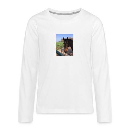 Met bruin paard bedrukt - Teenager Premium shirt met lange mouwen