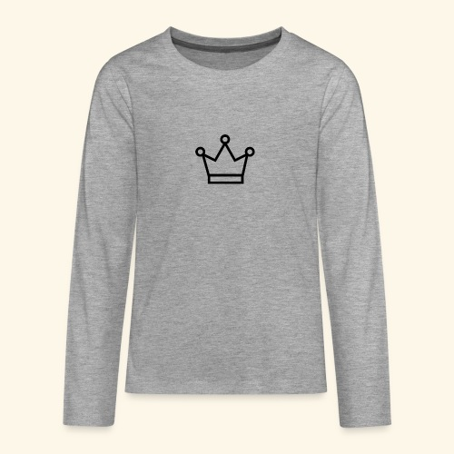 The Queen - Teenager premium T-shirt med lange ærmer