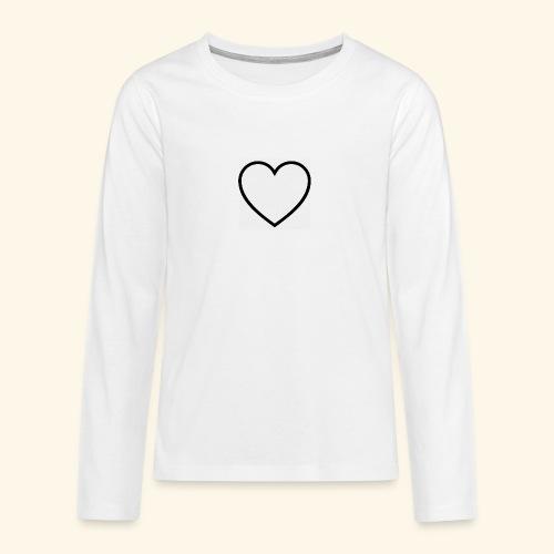 heart 512 - Teenager premium T-shirt med lange ærmer