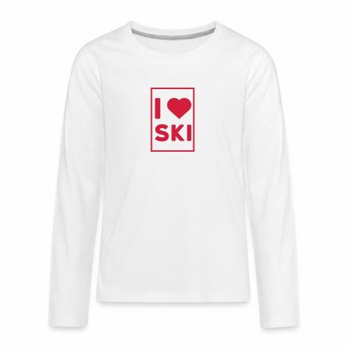 I love ski - T-shirt manches longues Premium Ado