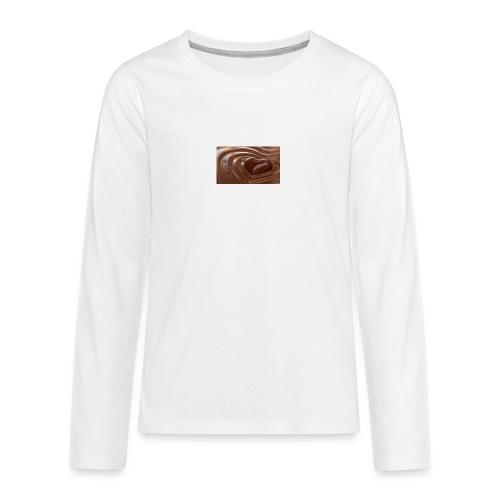 Choklad T-shirt - Långärmad premium T-shirt tonåring