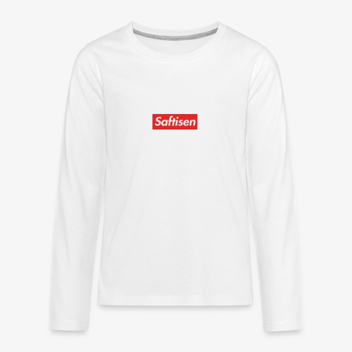 Saftisen Logo - Långärmad premium T-shirt tonåring