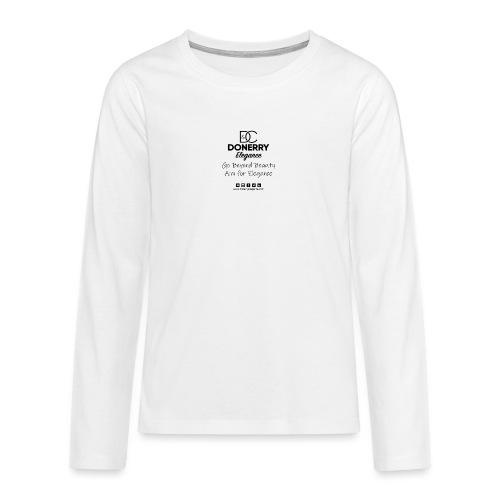 Go Beyond Elegance Image T Shirt design - Teenagers' Premium Longsleeve Shirt