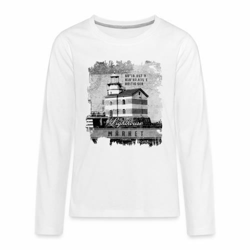 Märket majakkatuotteet, Finland Lighthouse, Harmaa - Teinien premium pitkähihainen t-paita