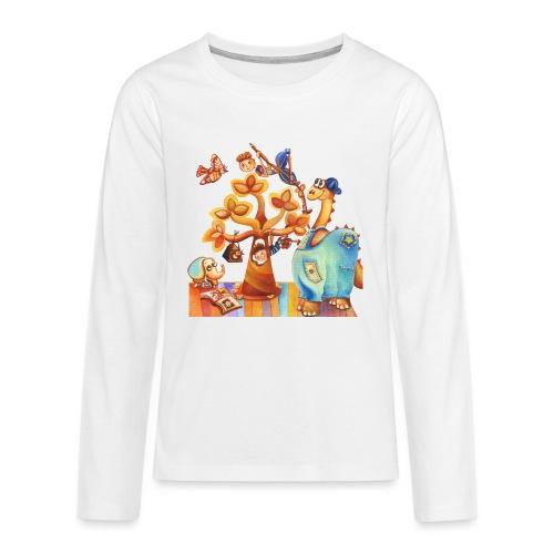 Dinosauro buono - Maglietta Premium a manica lunga per teenager