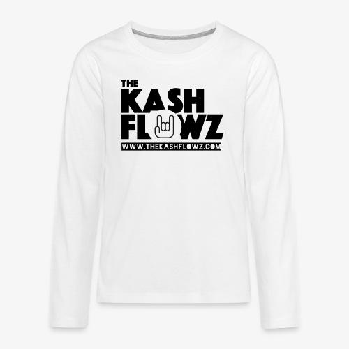 The Kash Flowz Official Web Site Black - T-shirt manches longues Premium Ado