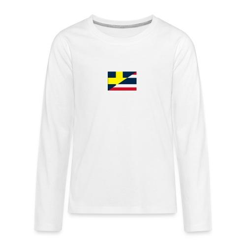 thailands flagga dddd png - Långärmad premium T-shirt tonåring