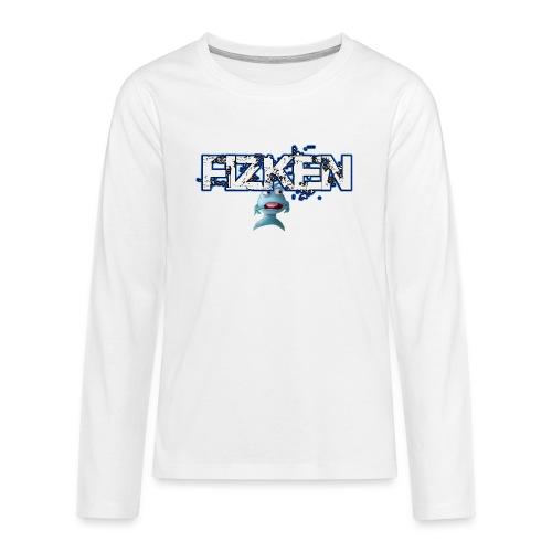 scareddark png - Teenager premium T-shirt med lange ærmer