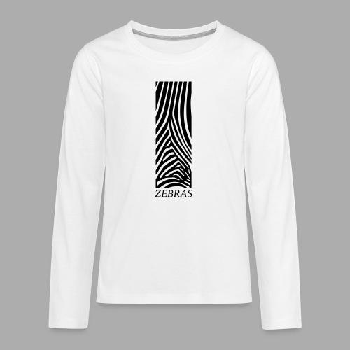 zebras - Teenagers' Premium Longsleeve Shirt