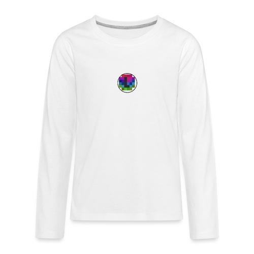 PixelColor - T-Shirt weiß - Teenager Premium Langarmshirt
