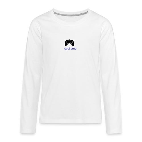 spel time - Långärmad premium T-shirt tonåring