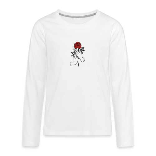 Fiore rosso - Maglietta Premium a manica lunga per teenager