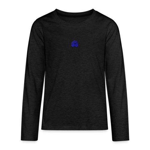Fiore blu - Maglietta Premium a manica lunga per teenager