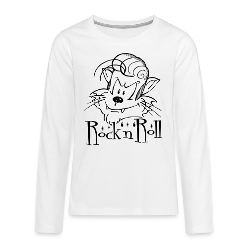 Rock'n'Roll Cat - Teenager Premium Langarmshirt