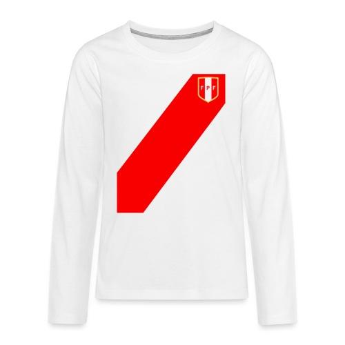 Seleccion peruana de futbol - Camiseta de manga larga premium adolescente