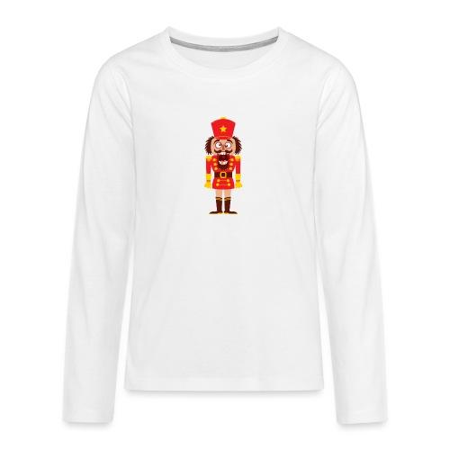 A Christmas nutcracker is a tooth cracker - Teenagers' Premium Longsleeve Shirt