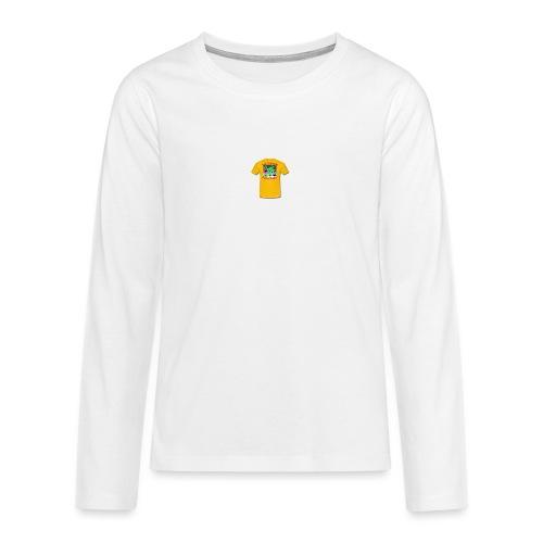 Castle design - Teenager premium T-shirt med lange ærmer