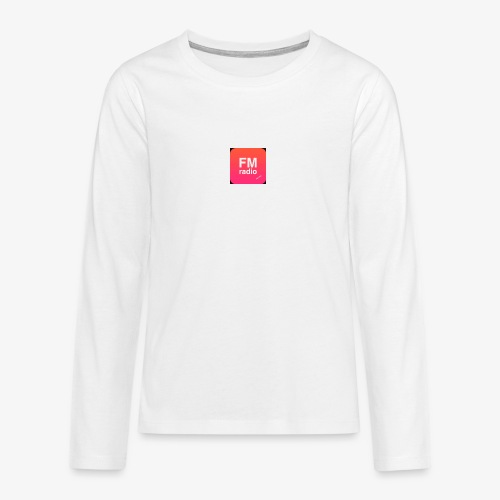 logo radiofm93 - Teenager Premium shirt met lange mouwen