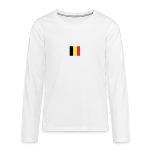 vlag be - Teenager Premium shirt met lange mouwen