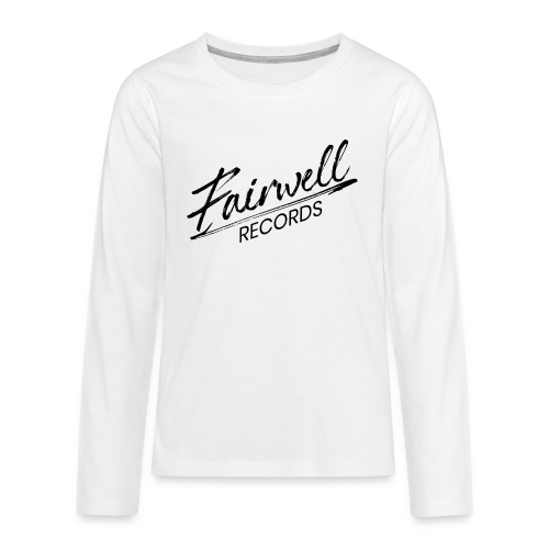 Fairwell Records - Black Collection - Teenager premium T-shirt med lange ærmer