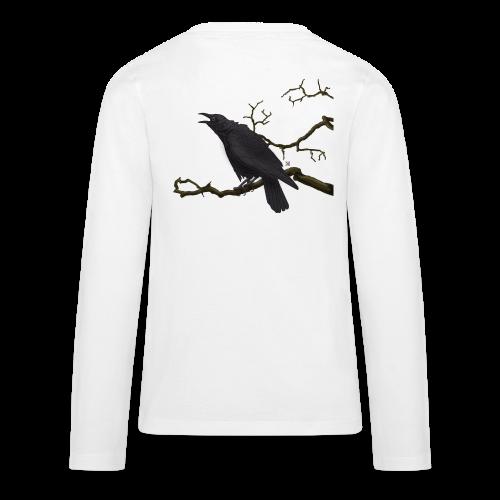 Cuervo negro - Camiseta de manga larga premium adolescente