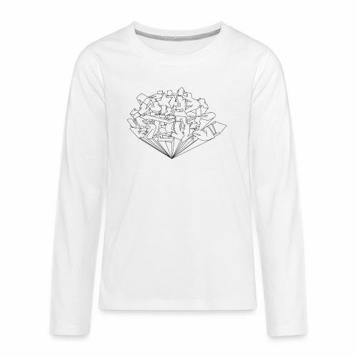 wild style ver01 Trick Aod - Teenager premium T-shirt med lange ærmer