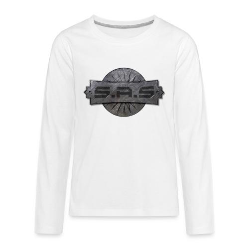 metal background scratches surface 18408 3840x2400 - Teenager Premium shirt met lange mouwen