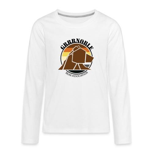 Logo 1 GRRRNOBLE BEAR ASSOCIATION - T-shirt manches longues Premium Ado