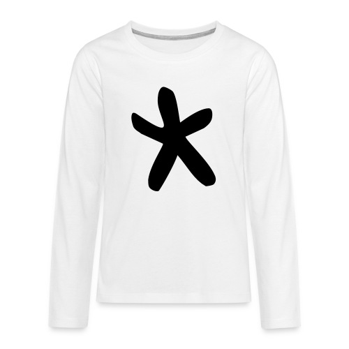 Wills Cwtch Hoodie, with a star on the front and - Teenagers' Premium Longsleeve Shirt