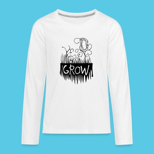 Grow Karabiner - Teenager Premium Langarmshirt