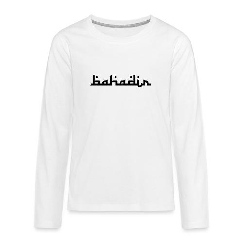 bahadir logo1 png - Teenager Premium Langarmshirt