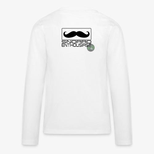 Snorro enthusiastic (black) - Teenagers' Premium Longsleeve Shirt