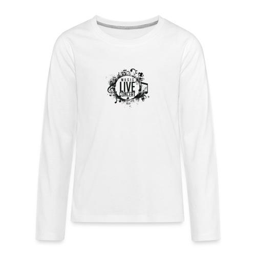 musica - Camiseta de manga larga premium adolescente