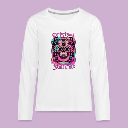 ORIGINAL SKULL CULT PINK - Teenager Premium Langarmshirt