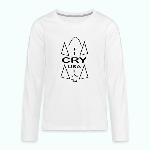 cry usa - Teenager Premium Langarmshirt
