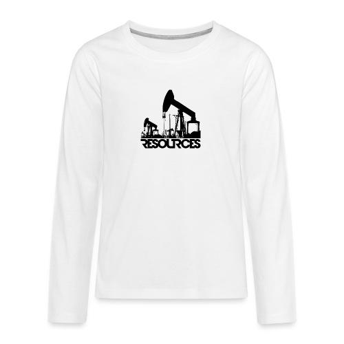 App Icon randlos schwarz - Teenager Premium Langarmshirt