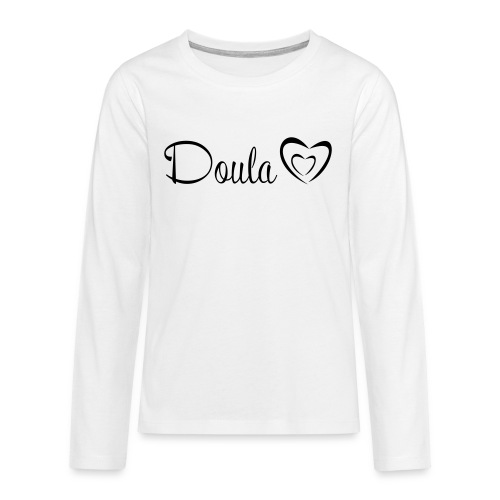 doula polkuna sydämet - Teinien premium pitkähihainen t-paita