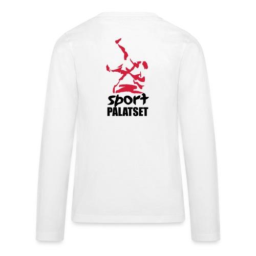 Motiv med svart och röd logga - Långärmad premium T-shirt tonåring