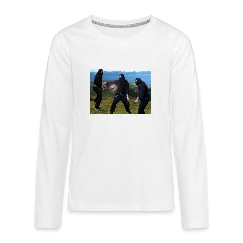 Chasvag ninja - Premium langermet T-skjorte for tenåringer