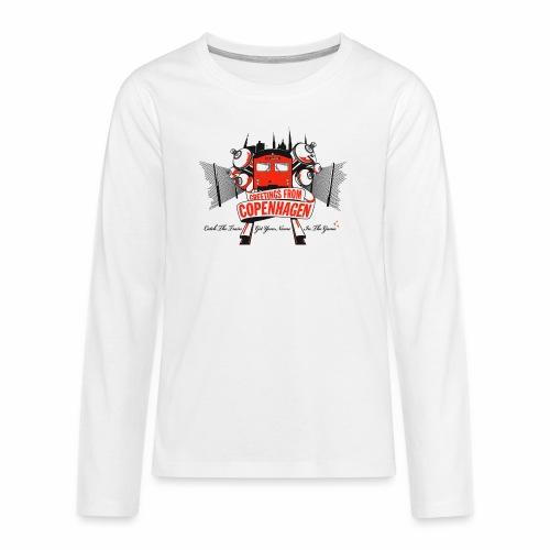 Greetings from CPH ver01 - Teenager premium T-shirt med lange ærmer