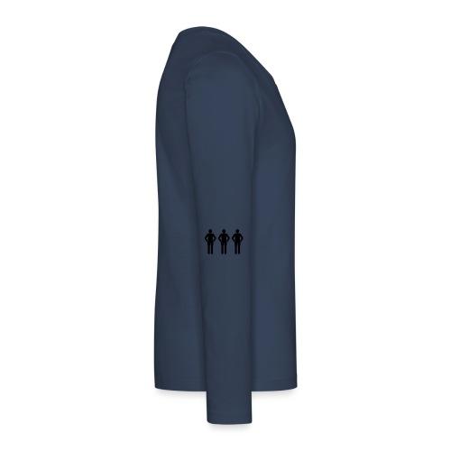 3schwarz - Teenager Premium Langarmshirt
