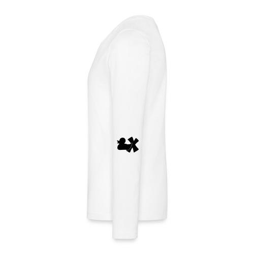Ente mit X v3 3 klein - Teenager Premium Langarmshirt