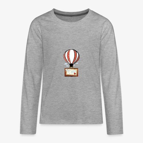 CUORE VIAGGIATORE Gadget per chi ama viaggiare - Maglietta Premium a manica lunga per teenager