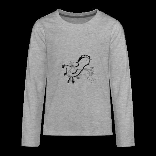Das pickende Huhn - Teenager Premium Langarmshirt