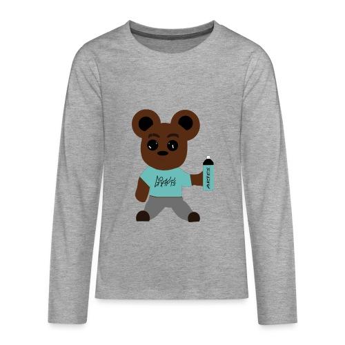 oursons graffeur V2 - T-shirt manches longues Premium Ado