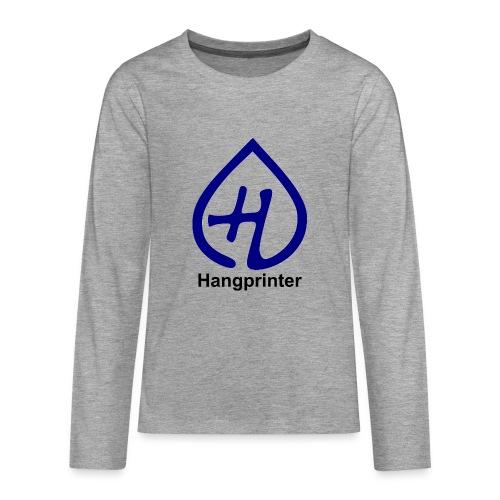 Hangprinter logo and text - Långärmad premium-T-shirt tonåring