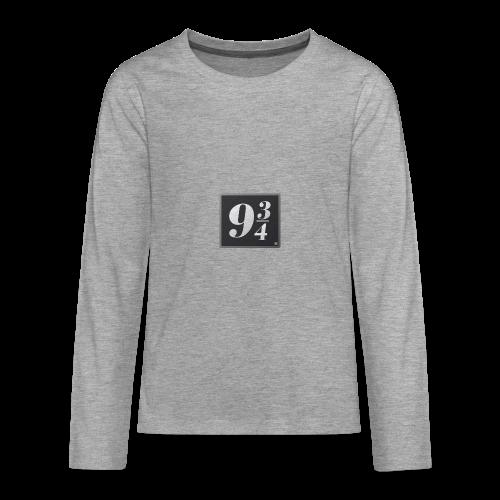 Andén nueve y tres cuartos - Camiseta de manga larga premium adolescente