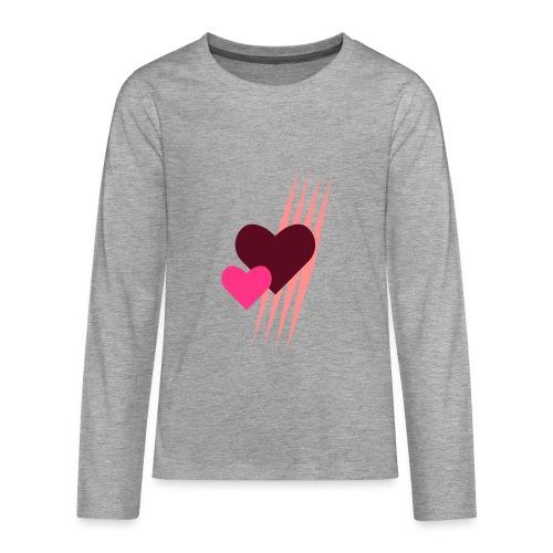 Teddy.Kidswear. – Hearts - Teenager Premium Langarmshirt