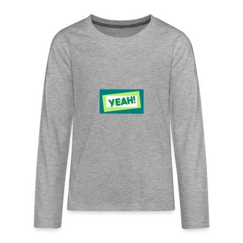 Teddy.Kidswear. – Yeah! - Teenager Premium Langarmshirt