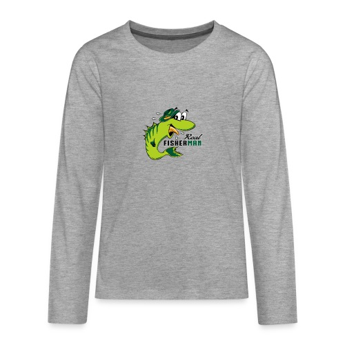 10-38 REAL FISHERMAN - TODELLINEN KALASTAJA - Teinien premium pitkähihainen t-paita